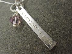 COURAGE Necklace in Sterling Silver by TheSterlingCharm on Etsy, $27.00