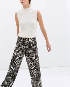 Image 2 of PALM TREE PRINT SARONG TROUSERS from Zara