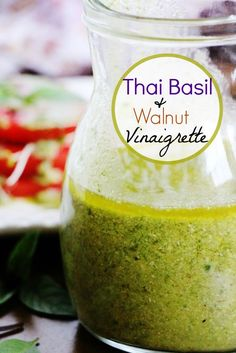 Thai Basil & Walnut Vinaigrette | A Salad For All Seasons