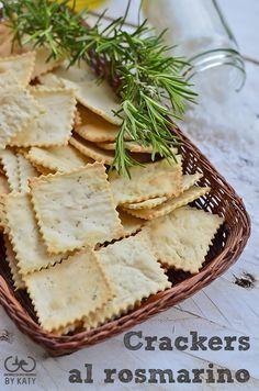Crackers al rosmarino, io non gli compro più.   Giorno dopo giorno by Katy Ricetta con pasta madre o lievito di birra