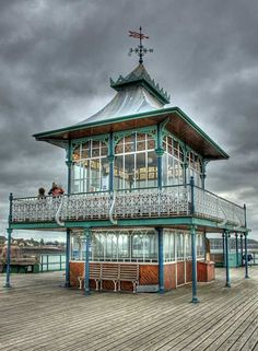 Cafe at the end of Clevedon Pier, Somerset I'd like a house like this.