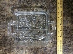 Clear Cut Glass Vegtable Relish Tray Serving Dish Celery Olive Pickle