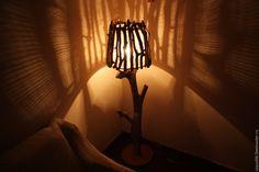 Купить Авторский торшер из речных коряг (из дерева) - торшер, светильник, лампа напольная