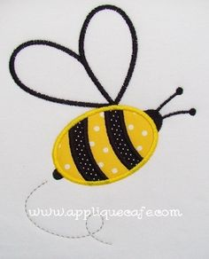 Bumble Bee Applique Design