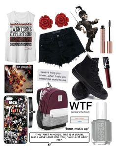 """""""Untitled #191"""" by mcrsarah ❤ liked on Polyvore featuring Alexander Wang, Eternally Haute, Converse, Victoria's Secret, Fallon and NARS Cosmetics"""