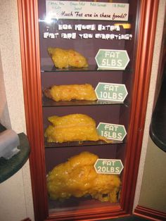 What 5,10,15 and 20 pounds of fat looks like.