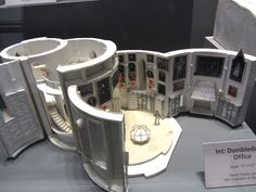 Dumbledore's Office, white card model.