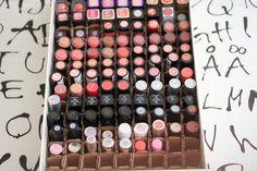Cute Dumpling: DIY: Lipstick Organizer Makeup Organization, Storage Organization, Chanel Bedroom, Lipstick Organizer, Diy Lipstick, Drawer Unit, Makeup Storage, Dumpling, Beauty Hacks