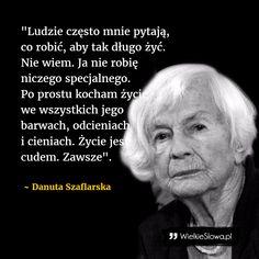Ludzie często mnie pytają... #Szaflarska-Danuta,  #Życie