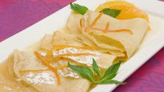 Crepes Suzette - Recipes - Best Recipes Ever - A definite classic, this French dessert needs only a garnish of orange segments and sprigs of mint to serve. Fish Recipes, Beef Recipes, Snack Recipes, Dessert Recipes, Desserts, Yummy Recipes, Breakfast Recipes, Homemade Tacos, Homemade Taco Seasoning