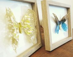 Fused glass butterfly's .love the delicate ness of the wings .#butterfly#fusedglass#gift