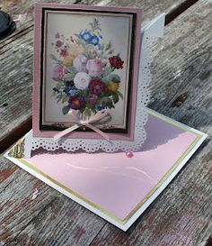 Pink Twisted Easel Card Open