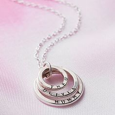Personalised Family Names Necklace - Beth, Mummy, Daddy. x