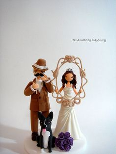Funny Funny - Customized wedding cake topper with dog