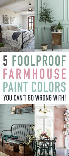 5 Foolproof Farmhouse Paint Colors You Can't Go Wrong With! #Farmhouse #FarmhouseStyle #FavoriteFarmhouseColors #FoolproofPaintColorsForYourFarmhouse #FavoriteFarmhouseColors #FarmhouseColor #FarmhouseROOMColors #FixerUpperStyle #JoannaGaines