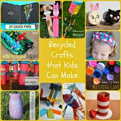 Recycled crafts that kids can make - so many fun ideas!