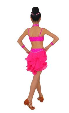 Amazon.com: Colorfulworldstore Girls/Lady Latin salsa cha cha tango Ballroom Dance Dress-Over all 4sets-Gauze Tail tyles: Clothing