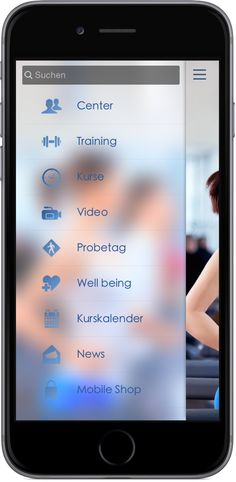 Mobile Marketing - Genau die richtigen Funktionen in der App für Fitness Studio und Fitness Center http://nextvisionapps.com/de/online-demo-fitness