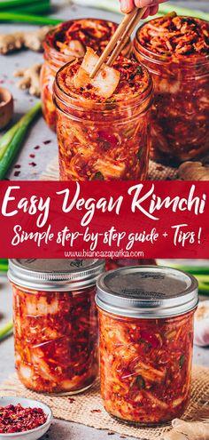 Vegan Kimchi Recipe, Vegetarian Recipes, Healthy Recipes, Healthy Food, Fermentation Recipes, Canning Recipes, Homebrew Recipes, Beer Recipes, Kitchen