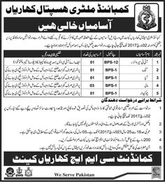 Last Date :02nd March, 2017 Location : Kharian Organization : Combined Military Hospital Kharian Education Required : FA, FSc, Primary Here at this job page i am going to present latest job opportunity from CMH Kharian IT Supervisor Jobs 2017 Combined Military Hospital Pak Army Newest. For all the domicile holder of Kharian & Gujrat it is finest opportunity to become a part of CMH Kharian is well reputed Pak Army operating hospital. Applications are being invited from CMH Kharian it is s...