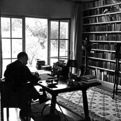 Author W. Somerset Maugham Sitting at Desk in the Study of His Villa Mauresque Premium Photographic Print - at AllPosters.com.au