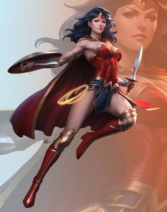 "bear1na: ""Wonder Woman: Rebirth #1 by Artgerm 