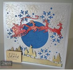 Crafters Companion Classiques Christmas Dies and Create a Card Softly Falling