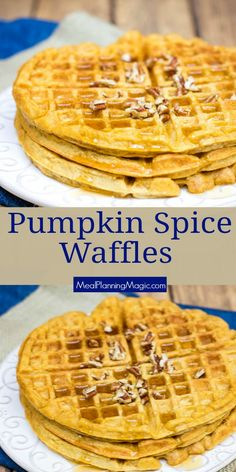The Rise Of Private Label Brands In The Retail Meals Current Market Celebrate Fall Flavors With These Delicious Homemade Pumpkin Spice Waffles. Made With Whole Wheat Flour And No Added Sugar, These Are A Great Way To Start Your Day Bonus: They Freeze Well Pumpkin Recipes, Fall Recipes, Real Food Recipes, Snack Recipes, Brunch Recipes, Homemade Waffle Mix, Homemade Waffles, Pumpkin Spice Waffles, Pumpkin Pie Mix