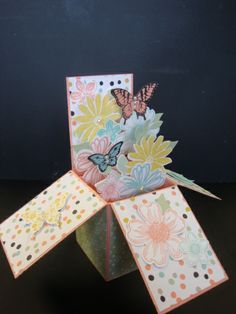 Card In A Box -  Neppie B. Hay, Flower Shop, Secret Garden, Petite Petals, Sweet Sorbet DSP