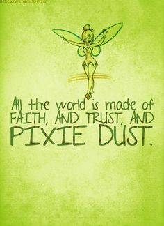 happy thoughts, disney princesses, fairi, pixi dust, tinker bell, tinkerbell, disney girls, quot, disney characters