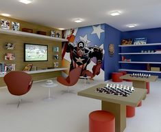 Decorating a Game Room Teen Game Rooms, Home Decor Bedroom, Room Decor, Teen Lounge, At Home Movie Theater, Multipurpose Room, Lounge Areas, Cool Rooms, Office Interiors