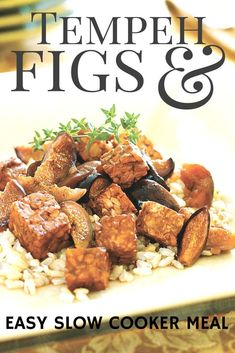 Slow Cooker Tempeh Braised with Figs and Port Wine #vegan