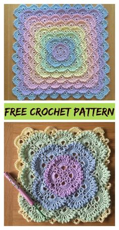Fluffy Meringue Stitch Baby Blanket Free crochet pattern and video tutorial . knitted ideas - Fluffy Meringue Stitch Baby Blanket Free crochet pattern and video tutorial …, - Crochet Motifs, Crochet Stitches Patterns, Crochet Granny, Crochet Squares, Knitting Patterns, Ravelry Crochet, Granny Squares, Free Crochet Square, Crochet Patterns For Baby