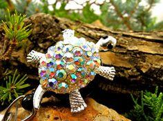 Designer Turtle Badge Reel  Retractable by BadgeAlleybyGerAnne