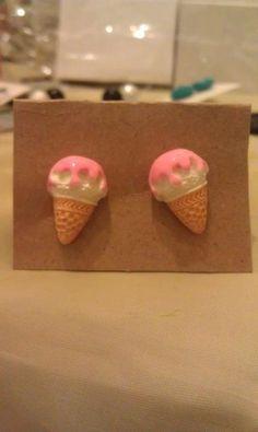 Cute Cone Earrings by AdelaidsCreations on Etsy, $3.00