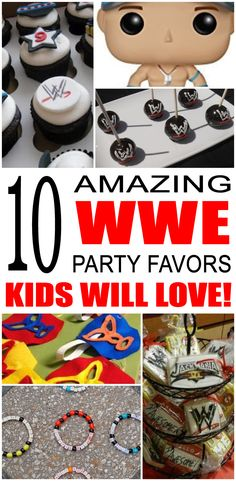 Fun wwe party favor ideas that kids and teens will love. Try these simple diy wwe party favors for boys and girls. Here are some easy gift bags, treat bags and more cute birthday ideas to say thank you to the friends of that special birthday child. Diy Birthday Party Boy, Wrestling Birthday Parties, Wrestling Party, Wwe Birthday, Superman Birthday Party, Cute Birthday Ideas, Teen Girl Birthday, Boy Party Favors, Special Birthday