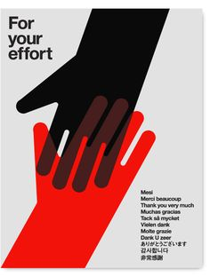 FOR YOUR EFFORT. 2-color silkscreened poster produced to raise funds for victims of the Haiti earthquake disaster. All profits were donated to MercyCorps.