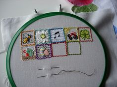 39 Squares Flickr Group. So MANY great stitching Sampler ideas!