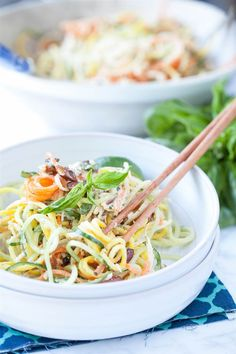 Spiralizer Recipe: Tangled Thai Salad by Danielle Walker of Against All Grain