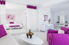 Our purple accommodation gem! Check the De.light Boutique Hotel's Deluxe Suite at https://goo.gl/Gf182I and book online to save more!   #mykonos #mykonosisland #greekislands #summer2017 #visitgreece #delighthotel