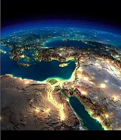 19 impossibly detailed views of Earth from space at night middle east earth night relief map anton balazh Earth And Space, Cosmos, Earth At Night, Night Night, Earth Photos, Space Images, Art Images, Sistema Solar, North Africa