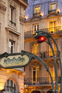 Evening at the Metro stop Saint Michel in the Latin Quarter, Paris France. © Brian Jannsen Photography