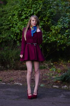 New Outfit Post - The Burgundy Princess Coat In The Royal Gardens http://raindropsofsapphire.com/2014/08/31/the-burgundy-princess-coat-in-the-royal-gardens/