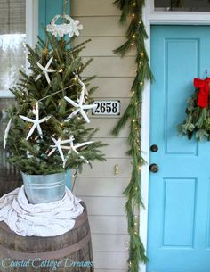 Beach Christmas Porch