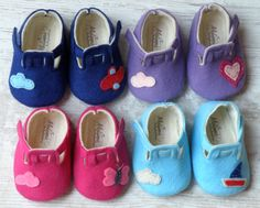 Baby Felt shoes Booties-style are totally made of felt. They are so cute.