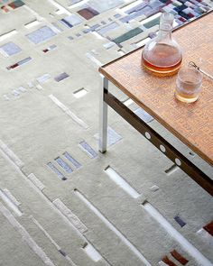 URBAN Hand tufted sculptured rug in New Zealand wool and bamboo viscose. Bauhaus Textiles, Josef Albers, The Way Back, Textile Design, Bamboo, Rug, Urban, Wool, Inspiration