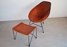 Garza Furniture - Marfa, TX - Oval Saddle Leather Chair