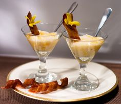 food in martini glass   Food: Grits Served in a Martini Glass + Garnished with a ...   Appeti ...