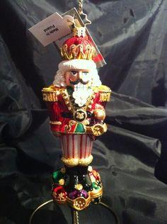 "Christopher Radko Christmas Ornament Nutcracker ""Surrounded by Fun"" | eBay"