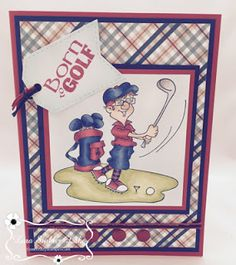 """Hi Everyone, Today I'm sharing """" Bob Loves Golf """" one of our new """"All About Boys"""" releases. This image was super fun & easy to color. Golf Quotes, Golf Sayings, Golf Humor, Funny Golf, Golf Range Finders, Golf Etiquette, Golf Chipping Tips, Golf Simulators, Golf Exercises"""